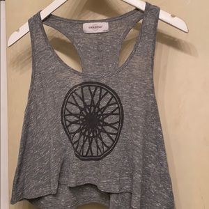 Dropped grey tank top